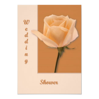 Salmon Rose Personalized Invite