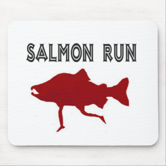 salmon Run Red Mouse Pad