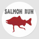 salmon Run Red Sticker