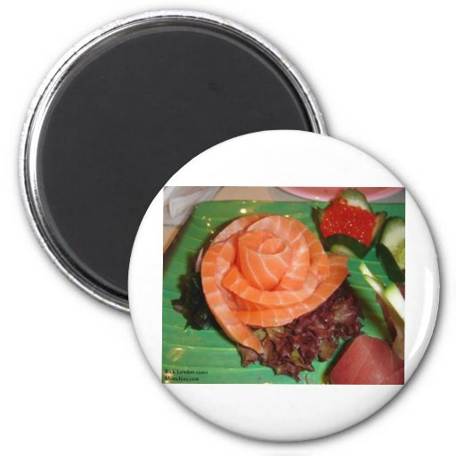 Salmon Sashami Gifts Tees Cards & Collectibles 2 Inch Round Magnet