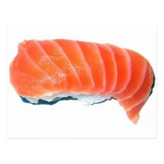 Salmon Sashimi Postcard