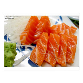 Salmon Sashimi Print Tees Cards Gifts Etc Post Cards