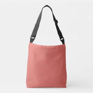 Salmon Solid Color Crossbody Bag