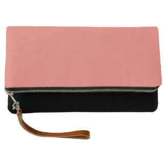 Salmon Solid Color Customize It Clutch