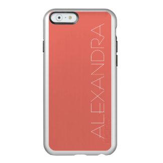 Salmon Solid Color Incipio Feather Shine iPhone 6 Case
