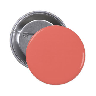 Salmon Solid Color Pinback Button