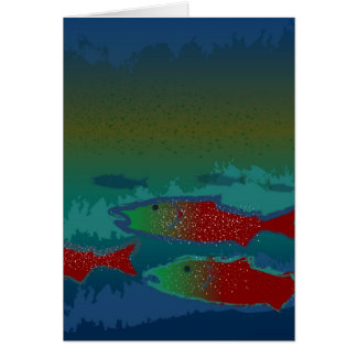 Salmon Spawn Greeting Card