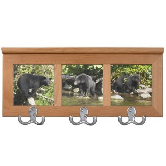 Salmon spotting Wild Black Bear images Coat Racks