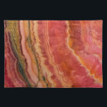 "Salmon Striped Quartz Cloth Placemat<br><div class=""desc"">Salmon Striped Quartz</div>"