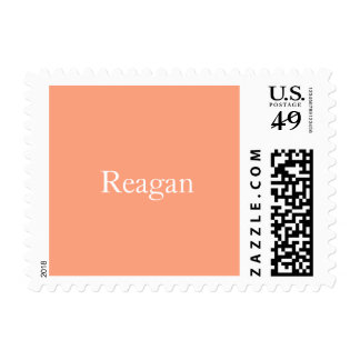 Salmon Sunset Personalized Postage Stamp