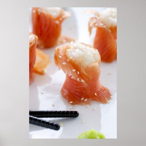 Salmon Sushi Print