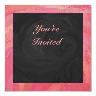 Salmon Swirl and Black Party Card