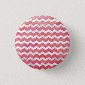 Salmon Swirl Chevron Pattern Pinback Button