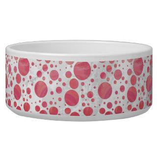 Salmon Swirl Dot Pattern Bowl