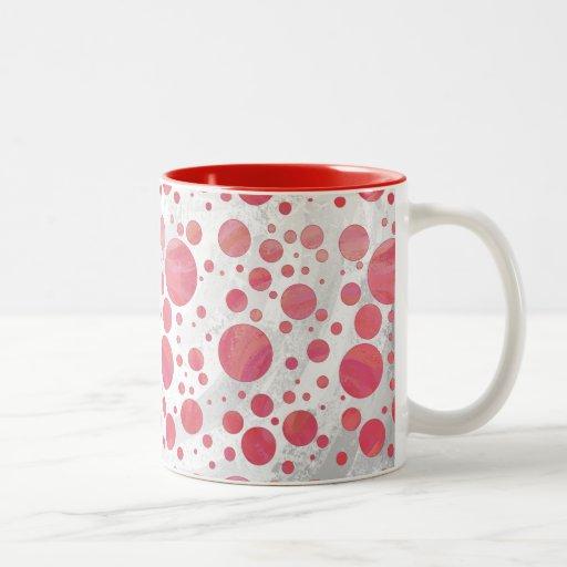 Salmon Swirl Dot Pattern Coffee Mug