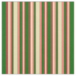 [ Thumbnail: Salmon, Tan, Brown & Dark Green Pattern Fabric ]