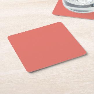 Salmon Square Paper Coaster