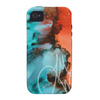 Salmon to Teal iPhone 4/4S Covers