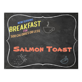 Salmon Toast Recipe Card