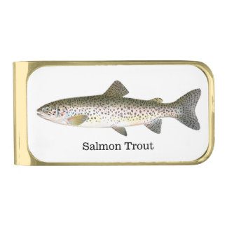 Salmon Trout Fish Gold Finish Money Clip