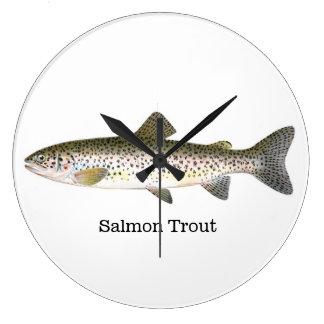 Salmon Trout Fish Large Clock