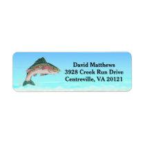 Salmon Trout Fish Return Address Label
