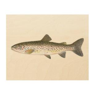 Salmon Trout Fish Wood Wall Art