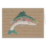 Salmon Trout Fishing Father's Day Greeting Card