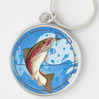 Salmon Trout Fly Fishing Keychain