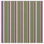 [ Thumbnail: Salmon, Violet, Green, Light Pink & Olive Green Fabric ]