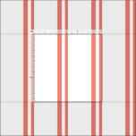[ Thumbnail: Salmon & White Lined Pattern Fabric ]