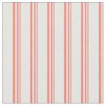 [ Thumbnail: Salmon & White Lines Fabric ]