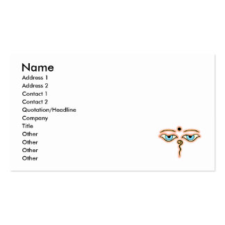Salmon Yellow Buddha Eyes.png Business Cards