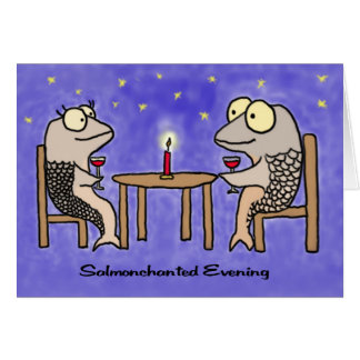 Salmonchanted Evening Greeting Card