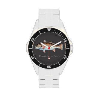 Salmones artísticos personalizados (carbón de leña reloj