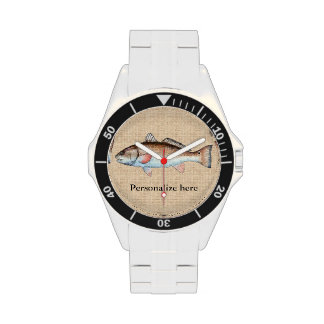 Salmones artísticos personalizados reloj