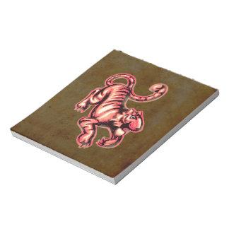 Salmones Brown del dibujo animado de la pintura Blocs De Papel