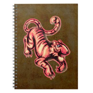 Salmones Brown del dibujo animado de la pintura Libros De Apuntes Con Espiral