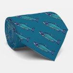 Salmones cianóticos corbata personalizada