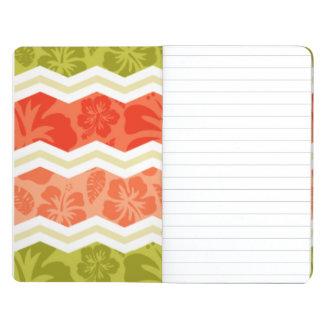 Salmones coral naranja y modelo tropical verde cuadernos