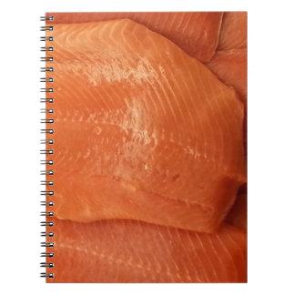 Salmones cortados libretas espirales