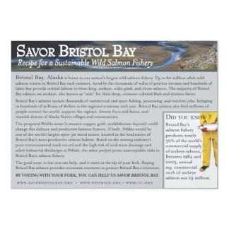 """Salmones de la bahía de Bristol de Rhonda Invitación 5"""" X 7"""""""