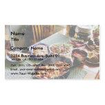 Salmones de la comida tarjeta de visita