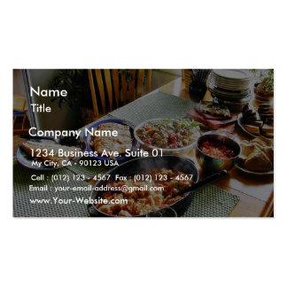 Salmones de la comida tarjetas de visita