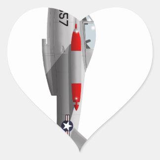 Salmones de Lockheed XFV-1 Pegatina En Forma De Corazón