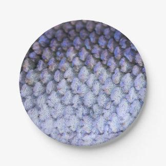 Salmones de plata brillantes plato de papel de 7 pulgadas