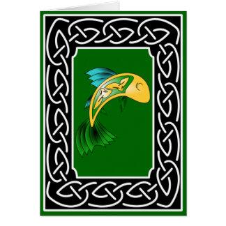 Salmones del conocimiento - tarjeta de felicitació