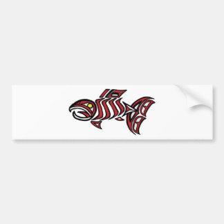 Salmones del Haida Pegatina De Parachoque