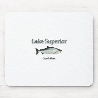Salmones del lago Superior Chinook (rey) Alfombrillas De Ratón