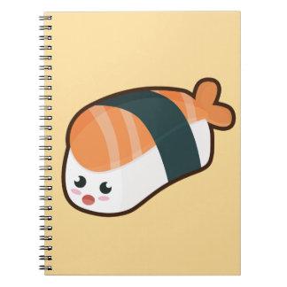 Salmones del nigiri de Kawaii Note Book